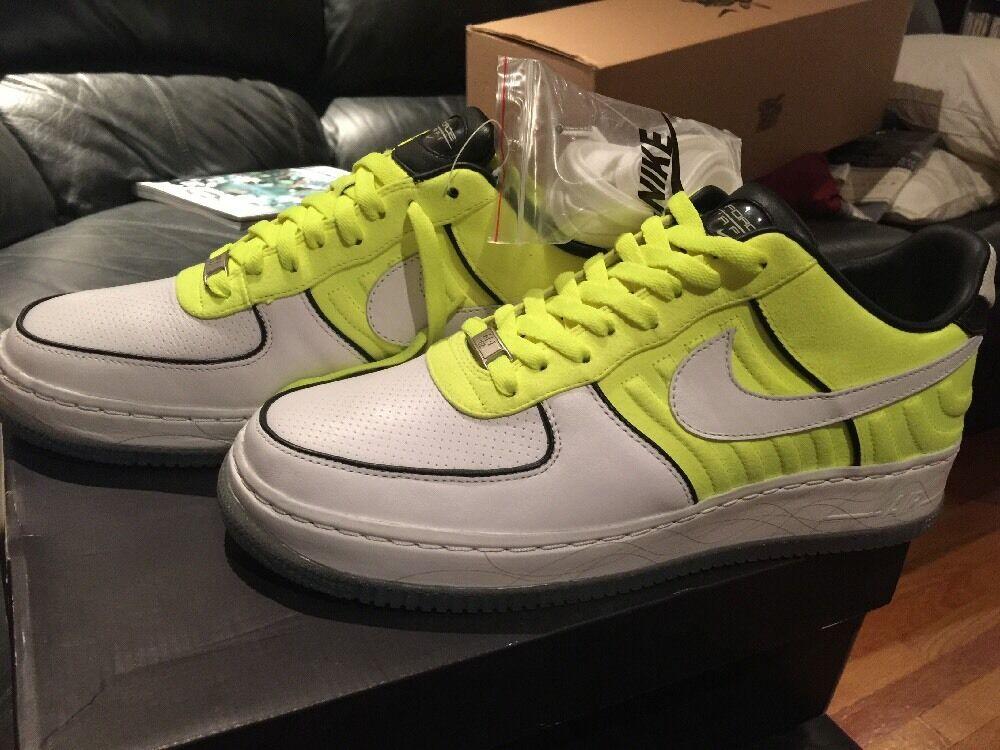 Nike air force 1 niedrige oberste i / neongelbe o - weiße / neongelbe / schwarz 318287 171 größe 10,5 33eb4b