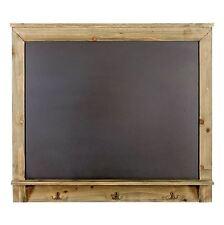 Blackboard Chalkboard Wall Mounting Black Board Memo Reminder Wooden Shelf Hooks
