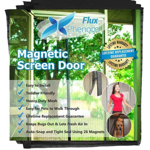 Flux Phenom Reinforced Magnetic Screen Door Fits Doors Up To 38 x 82-Inch