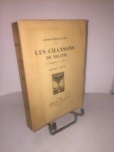 Les chansons de Bilitis traduit du grec par Pierre Louÿs | Georges Crès 1914
