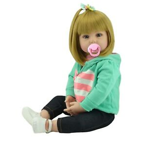 -Reborn Toddler Doll 22''55cm Real Looking Realistic Lifelike Baby Girl Presents 7211111221212