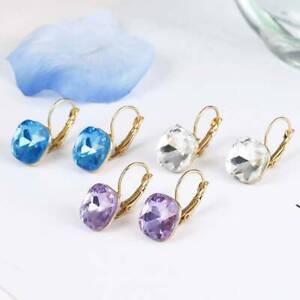 Classic-Square-Earrings-Crystal-Geometry-Stud-Earrings-Women-039-s-Jewelry-Fashion