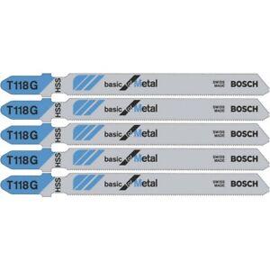 Bosch T118G Jigsaw blades metal cutting 2608631012 Pack of 5