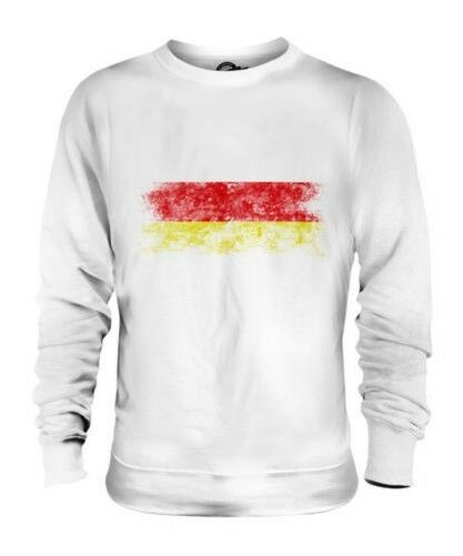 NORTH OSSETIA DISTRESSED FLAG UNISEX SWEATER TOP GIFT SHIRT CLOTHING JERSEY