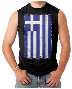 Horizontal Greek Flag Greece Men/'s T-shirt