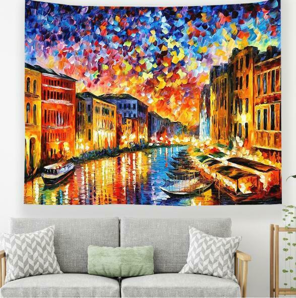 3D Boat House A195 Tapestry Hanging Cloth Hang Wallpaper Mural Photo Zoe