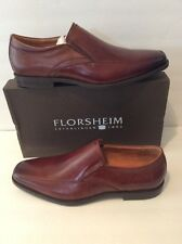 Florsheim Mens Forum Moc Toe Slip On Shoes Leather Size 13 New