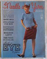 Vintage 1960s Needle & Yarn Knitting Pattern Magazine 8 Women Men Winter ©1966