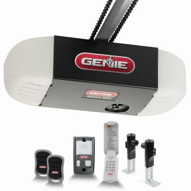 Genie 2035 Tkv R 1 2 Hp Keyless Whit Chain Drive Remote Control Garage Door Opener Black For Sale Online Ebay