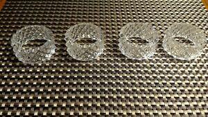 Brillante Diamond Crystal NAPKIN  RINGS set of 4