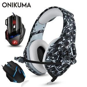 ONIKUMA-PS4-Headset-Casque-PC-Gamer-Bass-Gaming-Headphones-with-Microphone