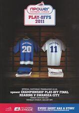 Play Off finale 2011 CAMPIONATO lettura V programma Swansea Nuovo di zecca