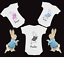 2 Piece BNWT Contemporary Baby Baby Personalised Peter Rabbit New Baby