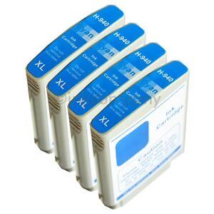 4x-TINTA-HP-940xl-AZUL-PARA-OFFICEJET-PRO-8000-sin-hilos-empresa-8500a-Plus