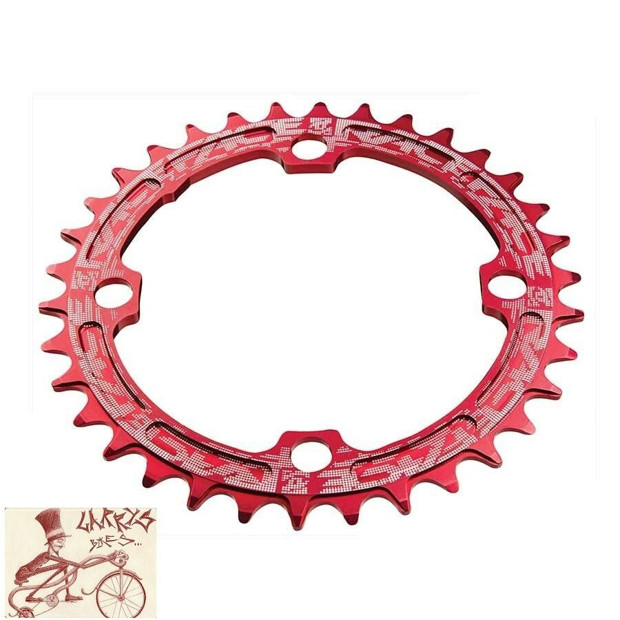 RACEFACE NARROWWIDE SINGLE 30T X 104MM rosso ALLOY BICYCLE CHAINRING