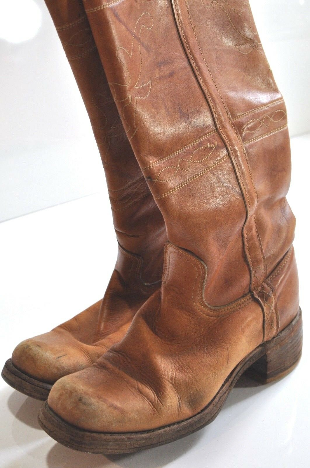 Womens brown leather boot size 10 made in in in USA cc2616