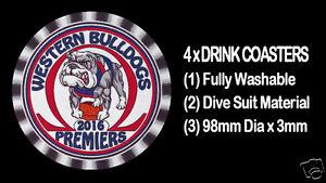 4-x-WESTERN-BULLDOGS-2016-PREMIERS-FOOTBALL-AUSSIE-RULES-DRINK-COASTERS