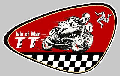Auto, Moto – Pièces, Accessoires Ambitious Tt Isle Of Man Biker 10x6,5cm Autocollant Sticker Moto Ia078 Refreshment Automobilia
