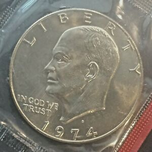 """1973 D Eisenhower /""""Ike/"""" $1 Dollar BU Uncirculated in OGP mint cello LOW MINTAGE"""