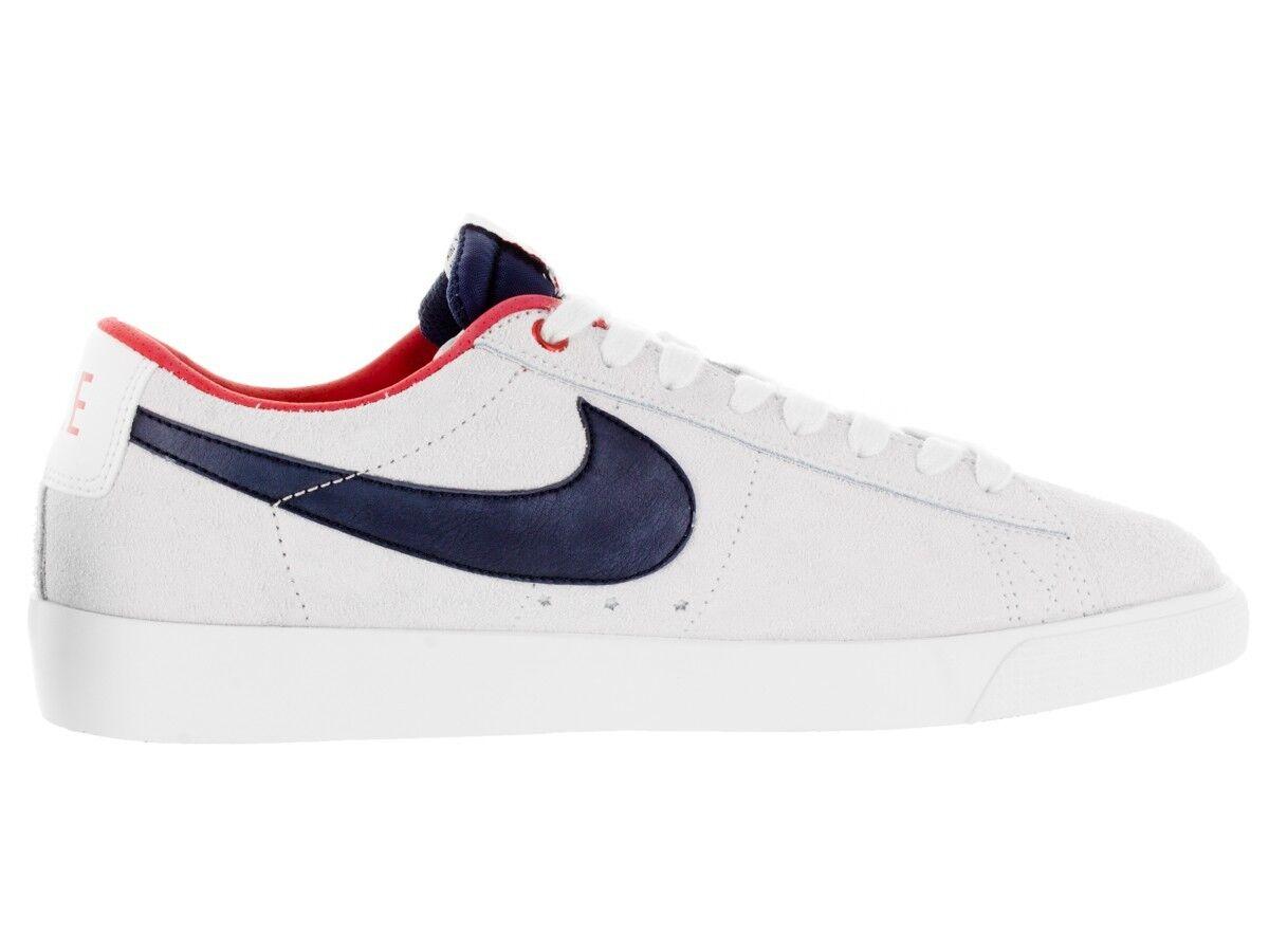 Nike BLAZER LOW GT Summit White Obsidian University Red (D) (590) Men's shoes
