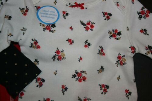 New Carter/'s Girls 4 Pack Holiday Floral Bodysuits Tops NWT NB 3m 6m 9 12 18 24m