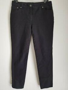 Chico-039-s-SO-SLIMMING-Womens-Sz-1-5-Regular-Black-Straight-Leg-Pants-Pockets
