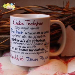 Tasse Liebe Tochter Dein Papa Geschenk Kinder Weihnachten