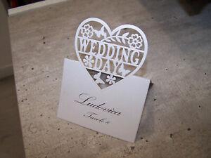 Segnaposto Matrimonio Ebay.Segnaposto Bianchi Segnaposto Chiesa Matrimonio Carta