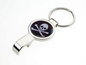 New Keychain Bottle Opener Skull and Crossbones or  Thumbs Up Bottle Opener