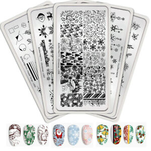 BORN-PRETTY-Christmas-Nail-Stamping-Plates-Snowflake-Image-Templates-New-Design