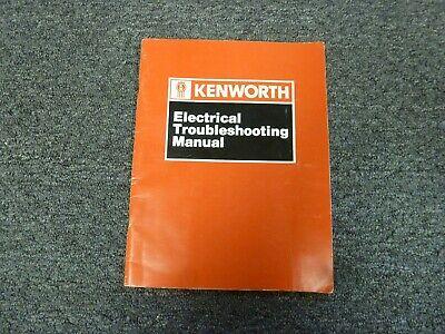1989-1990 Kenworth W900B Truck Electrical Troubleshooting ...