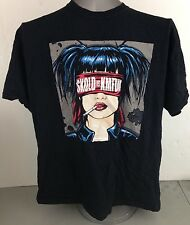 SKOLD vs KMFDM Comic Woman blindfolded 2XL Metal Rock T-shirt Concert Band