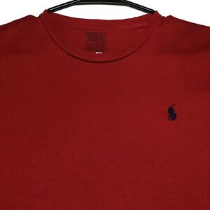 Polo-Ralph-Lauren-Men-s-Solid-Red-Basic-Crew-Neck-T-Shirt-Short-Sleeves-Small-S