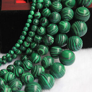 Lots-Of-Natural-Malachite-Gemstone-Round-Spacer-Loose-Stone-Beads-4-6-8-10-12mm