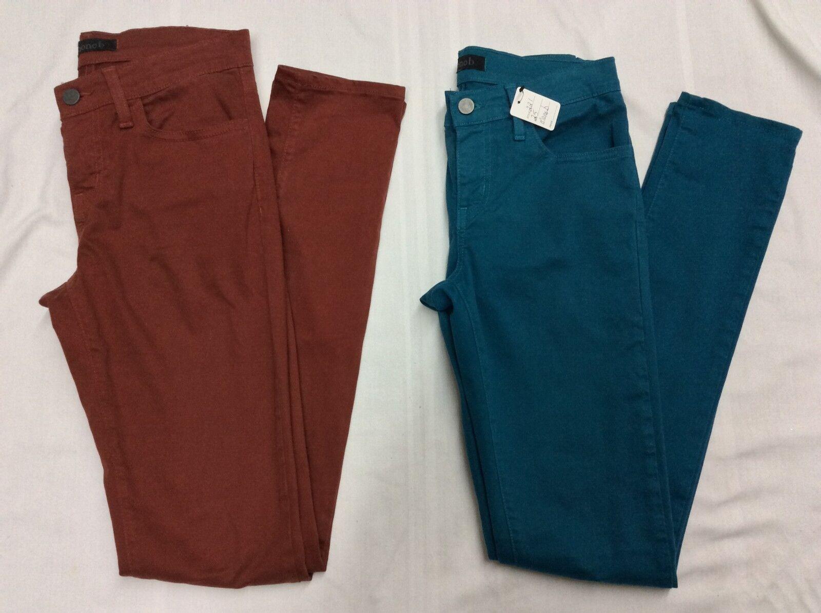 Mono B Lot Womens 25 Skinny Leg Pants Jeans 1 bluee 1 Brown