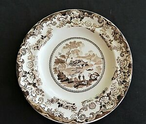 Vintage-Brown-Transferware-Small-Plate-Ironstone-Staffordshire-Gifts-for-her