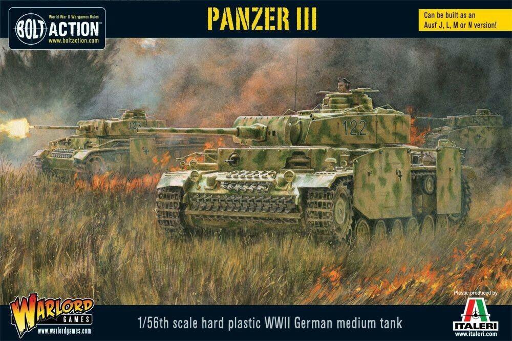 Warlord Games German Tank III Version J,L,M,N 28MM WWII Bolt Action Tank