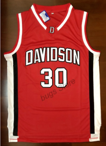 san francisco ffa67 ec4b6 Details about Steph Curry Davidson College Basketball Jersey Number 30