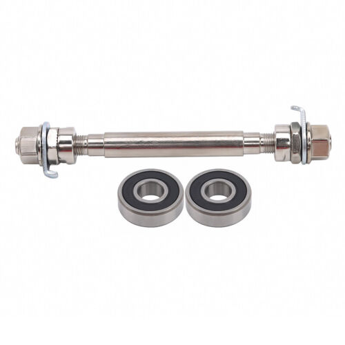 Bicycle Wheel Hub Axle Front Rear Bearing Solid Shaft Lever Repair Accessories