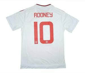 Manchester United 2015-16 Authentic Maglietta Rooney #10 L soccer jersey