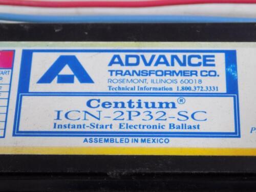 ADVANCE TRANSFORMER INSTANT-START ELECTRONIC BALLAST ICN-2P32-SC