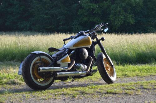 150 mm breiter runder Stahlfender ribbed gerippt für Kawasaki Vulcan VN800
