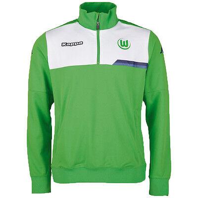 VfL Wolfsburg Kappa Herren Training Top Sweatshirt 402326 Halfzip Bundesliga neu