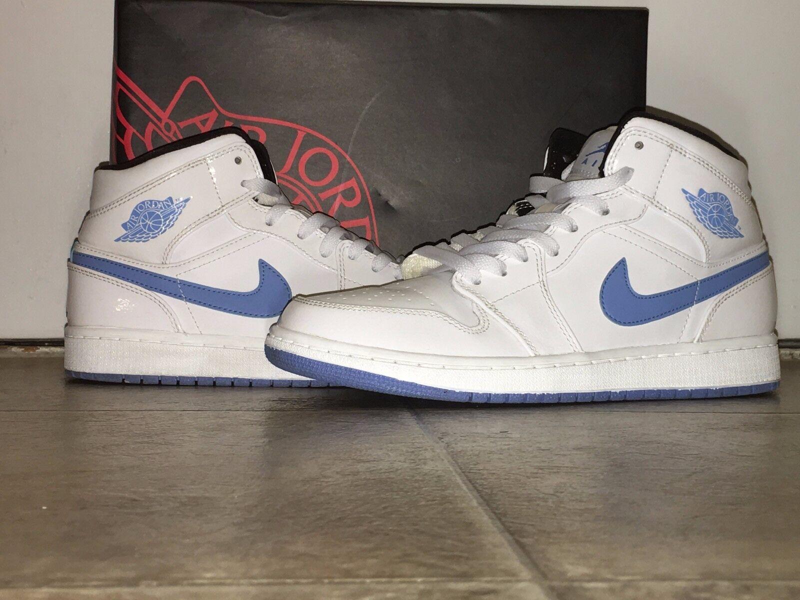 Men's BLUE Nike AIR JORDAN 1 Retro LEGEND BLUE Men's - Size 8.5 Style 6ff1ee