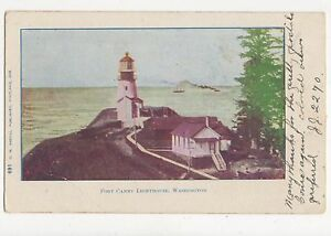 Fort-Canby-Lighthouse-Washington-USA-Vintage-Postcard-351a