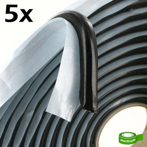 30m! 5x Butylschnur Butylband Dichtband Butylrundschnur schwarz Ø8mm x 6m