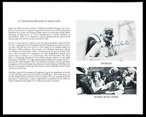 Walter Benz DECEASED WWII Fighter Pilot Ace-8V Signed 8x10 Bio Photo