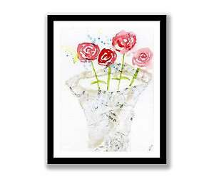 Roses-in-vase-watercolour-abstract-painting-unique-gift-Print-ID-078