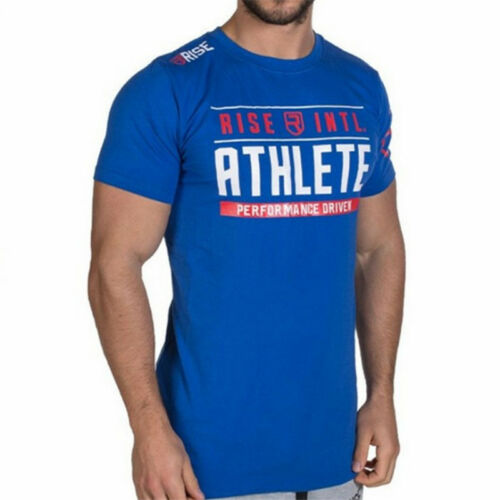 Mens Gym Bodybuilding Sports T-shirt Strong Fitness Muscle Training Top Shirts