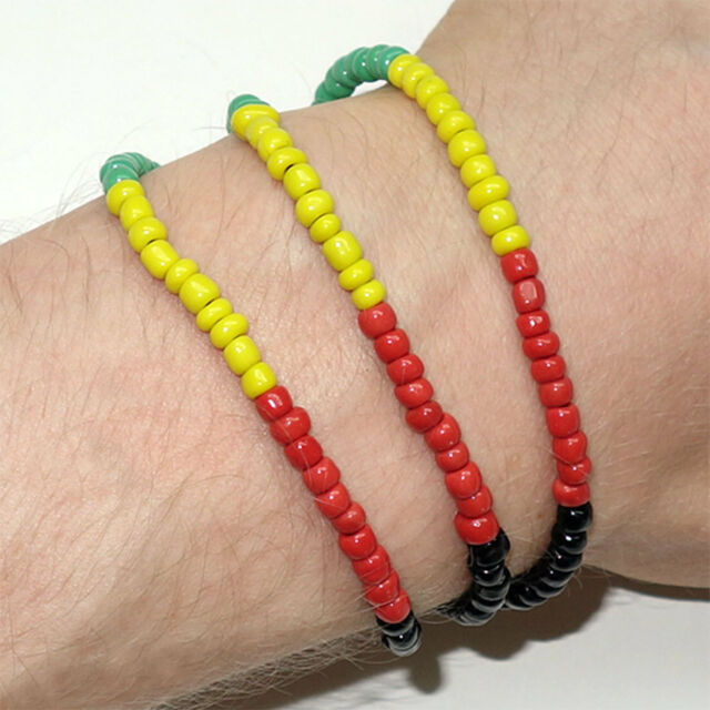 Rasta Reggae Friendship Bracelet Wristband Bob Marley Hippie Charm Cuff Bangle